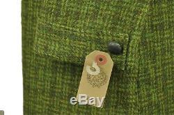 Vtg 1960's Ladies Harris Tweed Long Overcoat Jacket sz 10 12 SUPER RARE CLOTH