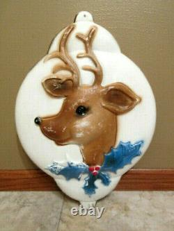 Vtg 1972 Union Products Lighted Rudolph Reindeer Ornament Blow Mold- SUPER RARE