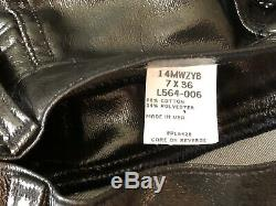 Womens Jeans Wrangler Vintage Faux Leather High Waist Super RARE 7x36 NWOT