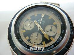 Zodiac Super Seawolf Divers Chronograph Valjoux 72 Ultra Rare Vintage